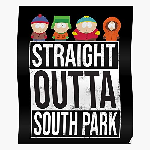 But Stick South Park Marsh Towlie Farms Fractured Tegridy Whole Of Timmy Truth Randy Drunk Regalo para la decoración del hogar Wall Art Print Poster 11.7 x 16.5 inch