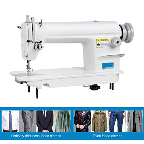 Industrial Sewing Machine,Commercial Grade Sewing Machine with Winding and Reverse Function,Thickened Body,Adjustable Stitch Length,for Sewing All Types of Fabrics(DHL)