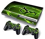 Funky Planet PS3 Oryginal Playstation Pegatinas de PVC para la Consola + 2 Controladores Decal Protector Arte (Biohazard)