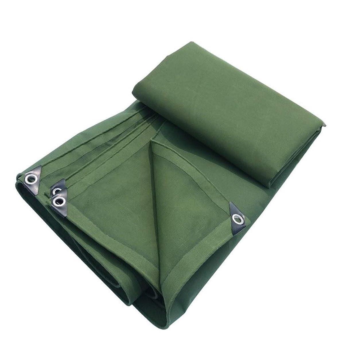 再びハブブ切り下げFQJYNLY ターポリンターププラス厚防風日焼け止めトラック工場、キャンバス、10サイズ (Color : Green, Size : 1.5X2M)