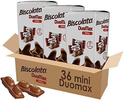 Biscolata Duomax Milk Chocolate Wafer Bar Snack Cookies 36 Pieces product image
