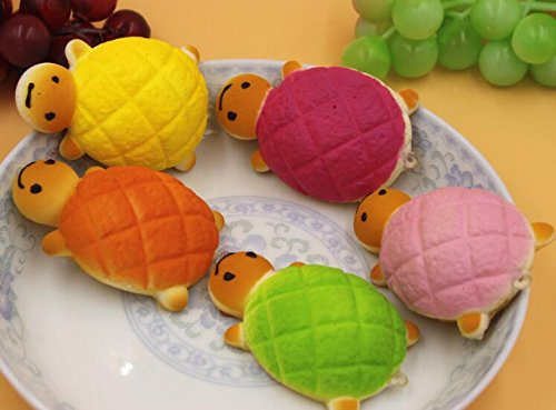 COFCO Colgante de tortuga pequeña de color de juguete para niños, simulación pequeña tortuga colgante de pan