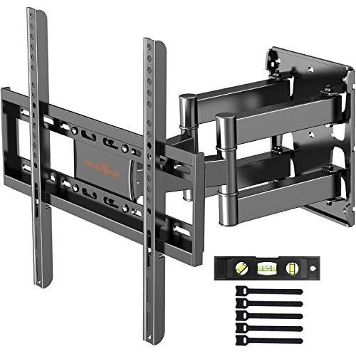 TV Wandhalterung, Schwenkbare Neigbare Fernseher Wandhalter für 26-55 Zoll Flach & Curved Fernseher oder Monitor bis zu 40kg, max.VESA 400x400mm