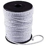 Cuerda trenzada de hilo de peso para tela de color blanco en varios gramos, venta por metro (25 g/m²)