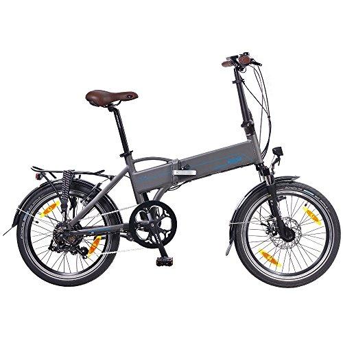 NCM Madrid 50,8 cm para Bicicleta Eléctrica E-Bicicleta Plegable E-Bike ALU 36 V 250 W Batería Li-Ion Batería de Marco 9Ah!