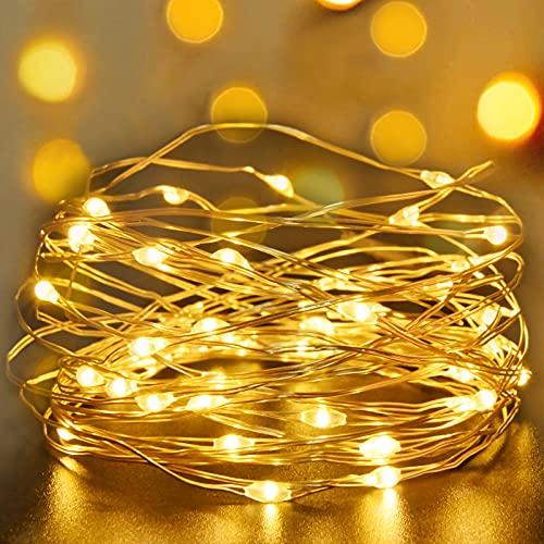 LED Lichterkette,Cshare 2M 20 Micro LEDs Lichterketten Kupfer Draht Batteriebetrieben Wasserdichte Lichter für...