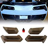 ECOTRIC Rear Tail Light Lens Taillight Molded Acrylic Kit Smoked for 2014-2019 C7 Corvette