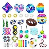 GDZTBS Fidget Toy Set Box, 37pcs Fidget Toys Set, Anti Stress Spielzeug Set, Sensory Toys für Kinder Erwachsene, Party Favourites (A)