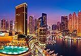 5D Dubai City Skyline Diamante completo Dibujo Kit de punto de cruz Arte Paisaje de alta calidad Diamante 3D Diamante redondo Diamante Diamante 30Cm * 40Cm Huzi