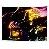 JackGo7 Daft Punk Tapestry Art Wall Hanging Sofa Table Bed Cover Mural Beach Blanket Home Dorm Room Decor Gift (60X45inch/150x113cm)
