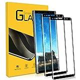 Protector Pantalla para Samsung Galaxy Note 9,[2 Piezas HD Cristal Templado]Toque 3D/Cubierta Completa 3D/Dureza 9H/Anti-Arañazos para Samsung Galaxy Note 9 Vidrio Templado película Protectora -Negro