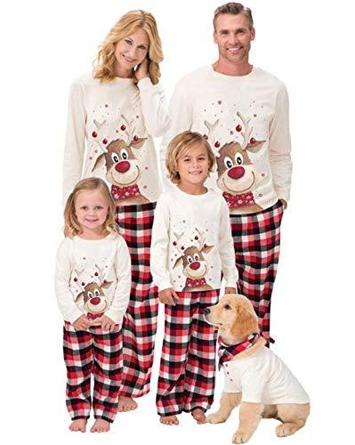 SHISAIGOU passende Weihnachten PyjamasChristmas Family Pyjamas Set Mutter Tochter Vater Sohn Strampler Nachtwäsche Mama Baby passende Outfits