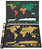 Carte du Monde à Gratter XXL, Devlop Carte du Monde en Poster Extra Large, Marqué...