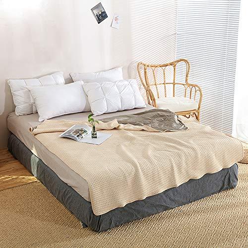 Adult EMF Protective Blanket, Organic, Anti-Radiation, Natural Beige, 60'x78' Twin Size