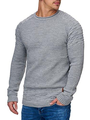 Tazzio Herren Styler Strick-Pullover 16479 Grau XL
