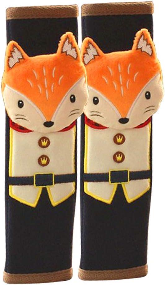 Tianmei 2Pcs Cute Cartoon Doll Financial sales sale Styling Louisville-Jefferson County Mall Cover Car Seat Belt Shoul