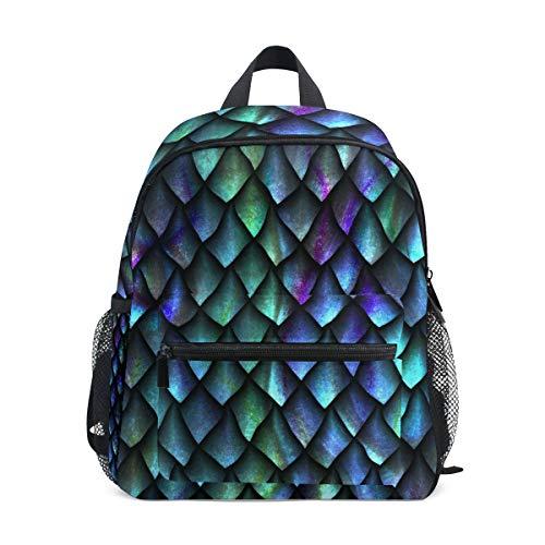 Rucksack mit Drachen-Waage, geometrisch, Grün, für Mädchen, Jungen, Kinder, Schule, Reisen, Mini-Büchertasche