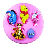 Winnie The Pooh & Friends Silicone Mould Mold for Cake Decorating Cake Cupcake Toppers Icing Sugarcraft Tool by Fairie Blessings