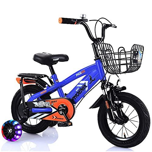 FUFU Bicicleta de Balance de montaña para niños de 12 a 20 Pulgadas, Muy Adecuado para Bicicleta de 2-14 años de Edad con Frenos, Canasta, Deportes a Caballo al Aire Libre