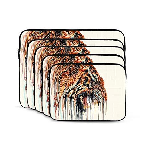 Funda para portátil con estampado de animales de tigre, maletín para portátil resistente a los golpes, estuche para tableta para MacBook Pro/MacBook Air/Asus/Dell/Lenovo/Hp/Samsung de 17 pulgadas