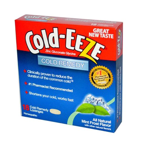 Cold-EEZE Cold Remedy Lozenges, Mint Frost, 18 Count