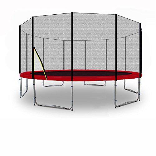 Kid(S) Ports Trampolino - Trampolino da Giardino per Bambini - Testato per Sicurezza e funzionalit - Variation [185-430] à (305cm con Ancora, Rosso)