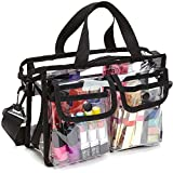 CoreLife Clear Stadium Tote Bag for Women Zippered Travel Bag with Strap NFL PGA Approved - Clear