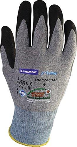 Promat Lot de 12 gants Flex N Taille 8 Gris/Noir en 388 (Unité de livraison)
