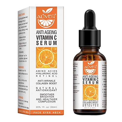 Premium 20% Vitamin C Serum, Retinol & Hyaluronic and Amino Acids (30ml) for Face/Neck/Eye Contour, Boost Skin Collagen, Anti Ageing, Anti Wrinkle, Brighten, Provide Care for The All Skin Types.