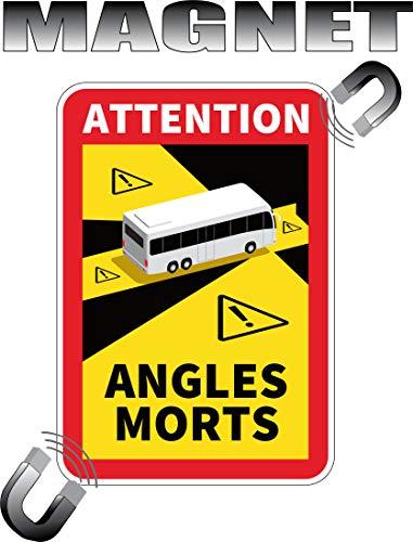 Magnetische Sicherheit, Achtung toten Winkel, für Autocars.