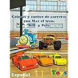 Colores y coches de carreras con Max el tren, Bill el camión monstruo y Pete el camión - juguetes
