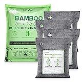 CLEVAST Bolsa de purificación de aire de carbón de bambú (200g * 4) desodorización y...