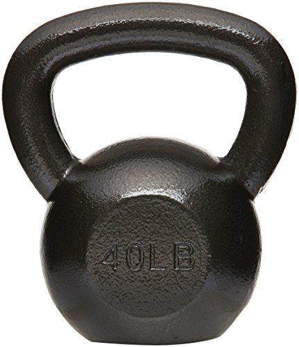 AmazonBasics Cast Iron Kettlebell - 10 Pounds, Black
