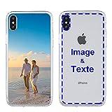 MXCUSTOM Coque Personnalisée Apple iPhone XS Max, Personnalisable avec Votre Propre Photo Image...