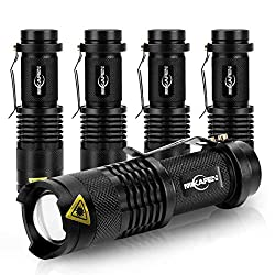 MIKAFEN 5Pack Flashlights Mini Led Flashlight 300lm 3 Modes (Light –...