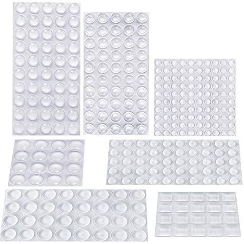 AUSTOR 318 Stück Gummifüße, geräuschdämpfende Puffer-Pads, transparente Gummi-Pads, selbstklebende Stoßstangen-Pads für Türen, Schränke, Schubladen, Glas, elektrische Geräte