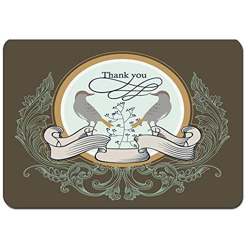 Antideslizante Alfombra De Baño,Mejor Tarjeta de Boda Estilo Retro clásico,Alfombra de Cocina Alfombra Mascota,Alfombras de Ducha 75x45cm