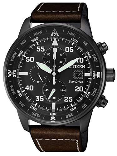 Citizen, Reloj con cronógrafo para hombre, de la colección Aviator Chrono CA0695–17E