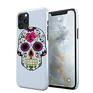 Blue Native Sugar Candy Mexican Skull Hard Thin Plastic Phone Case Cover For iPhone 11 Pro Max
