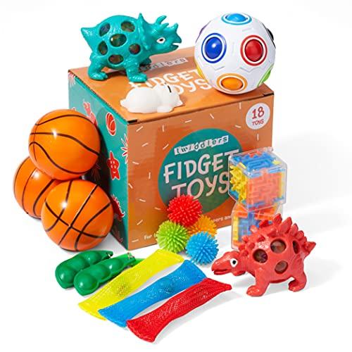 THE TWIDDLERS 18-Stück Zappelspielzeug Set - Mehrfarbige Sensorische Fidget-Sammlung