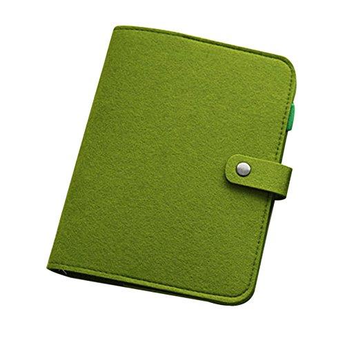 Notizbuch, A5/A6, lose Blätter, Vintage, Filz, nachfüllbar, Tagebuch, Handschrift, Übungsbuch, Grün
