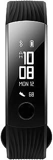Huawei Honorバンド3スマートバンド水泳可能スボッツウオッチ OLEDスクリーン心拍数ステップ 30日連続使用可能防水 第三世代睡眠モニターウオッチ (ブラック)