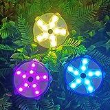 "Luces de spa LED flotantes, luces de bañera de hidromasaje de 3.3"", IP68 impermeable estrella de mar Pond Light, 10 LEDs brillantes, 7 colores, Luces flotantes para piscinas para decoración de baños"