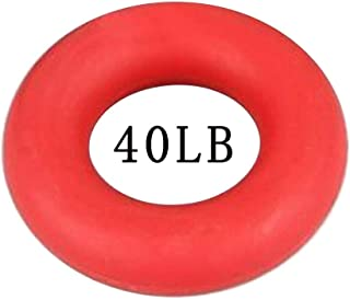 Yoga Equipment,Silica Gel Grip Forearm Strength Training Equipment Ring Exerciser Gym Silicone Grip Rubber Ring Training Device Fitness Device Sensory Training Equipment Tactile Grip Ring Red 40lb