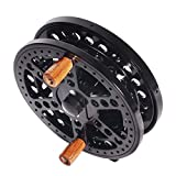 4.5 inches Centrepin Float Reel Center Pin Trotting Fishing Reel 113.5mm CNC Machined Aluminum Salmon Steelhead Fishing Black Color