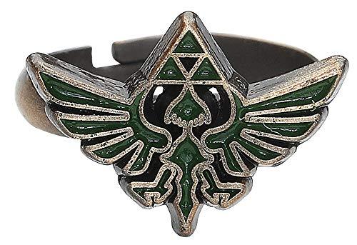 The Legend of Zelda – Anello con logo Green Triforce – Maat S