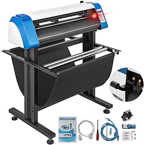 VEVOR Vinyl Cutter 28 Inch Plotter Machine Automatic Paper Feed Vinyl Cutter Plotter Speed Adjustable Sign Cutting with Floor Stand & Signmaster Software