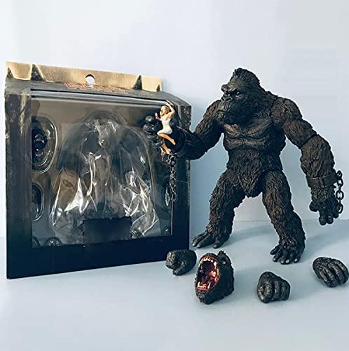 18 Cm En Caja Godzilla Vs Kong King Ghidorah Burning Godzilla Modelo Hecho A Mano Conjunto De Muñeca Móvil Decoración Juguete Modo De Colección De PVC