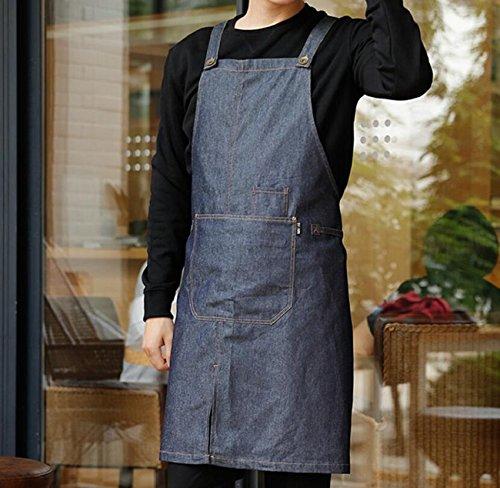 LD&P Heren Jeans Aprons, Zakken, Verstelbaar, Tuinieren Barbecue Kookschorten