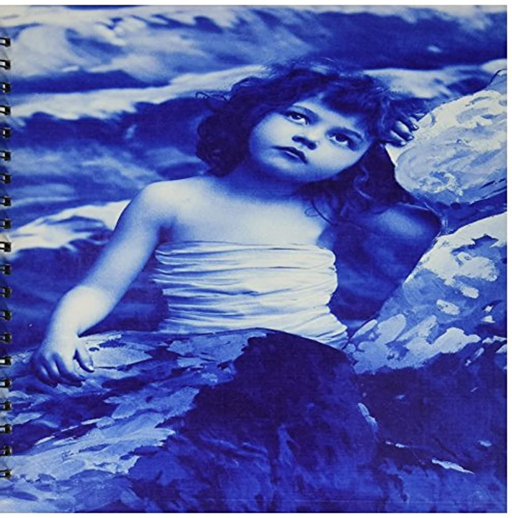3dRose db_55222_2 Old Photo of Little Blue Mermaid Memory Book, 12 by 12-Inch